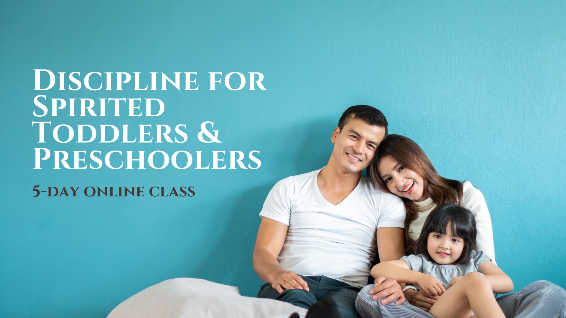 Family with spirited child teaching discipline
